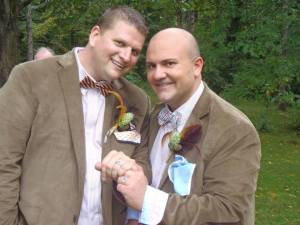 Embellish FX owners Ben Johansen and Tim Vargas were recently wed in Connecticut.